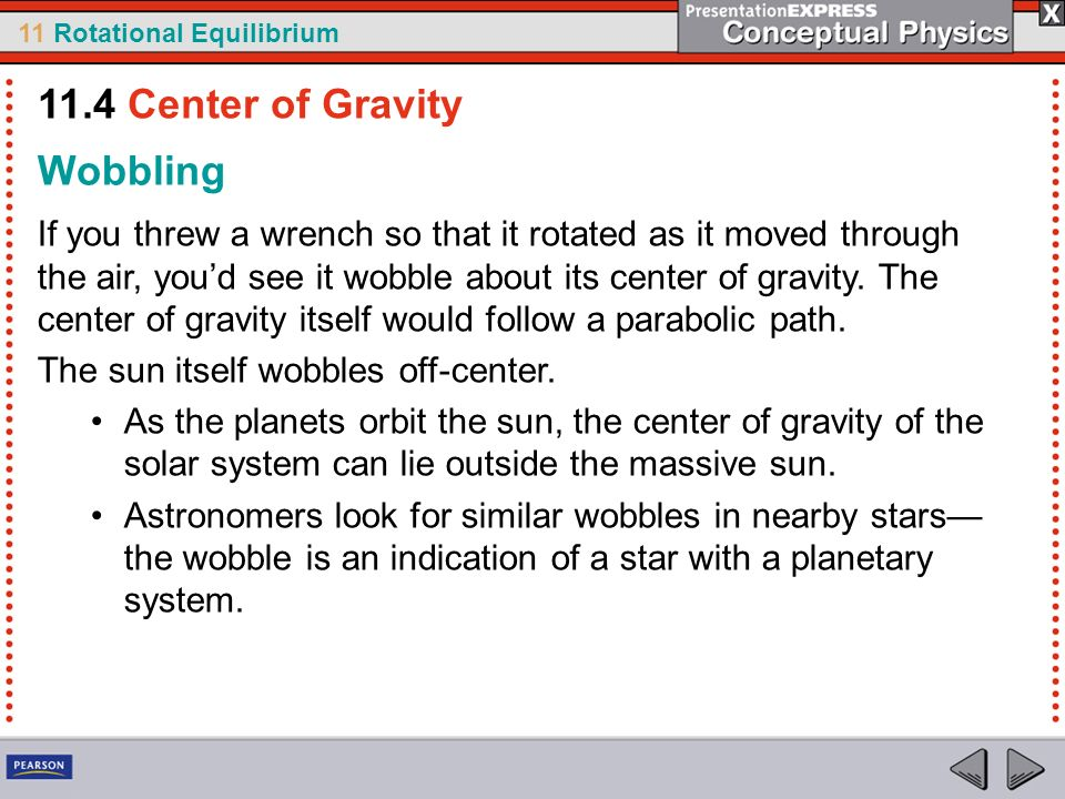 11.4 Center of Gravity Wobbling
