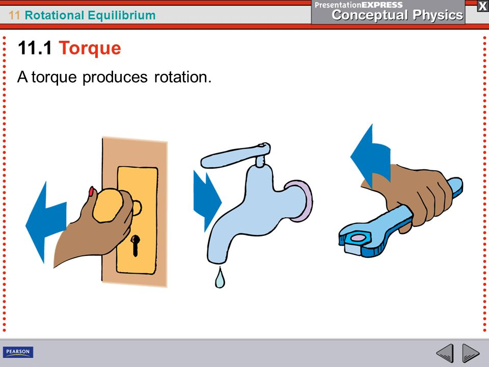 11.1 Torque A torque produces rotation.