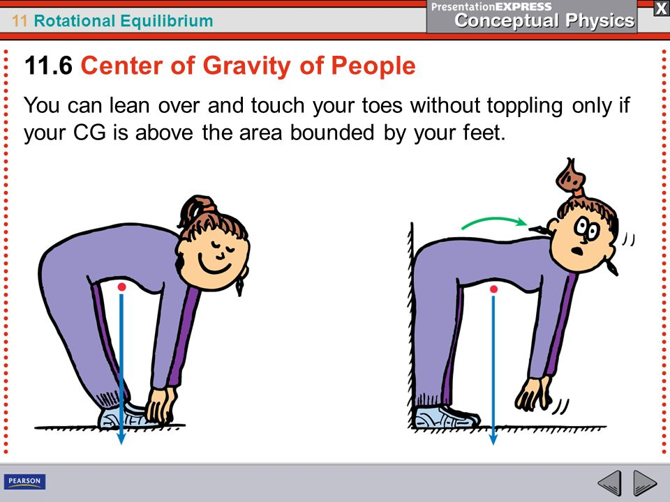 11.6 Center of Gravity of People
