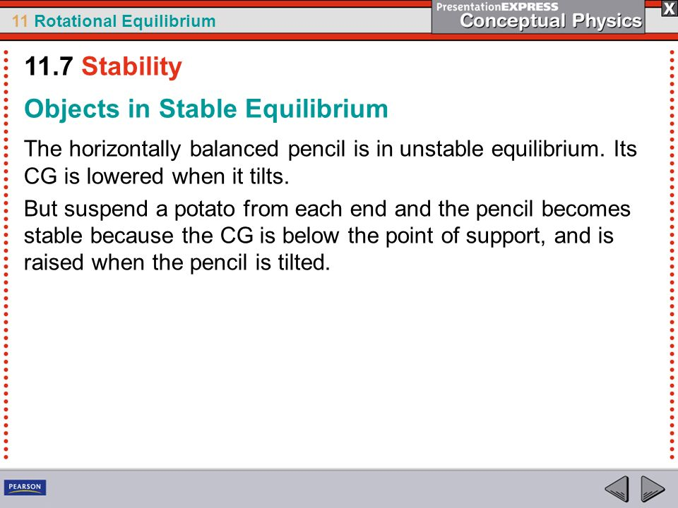 Objects in Stable Equilibrium