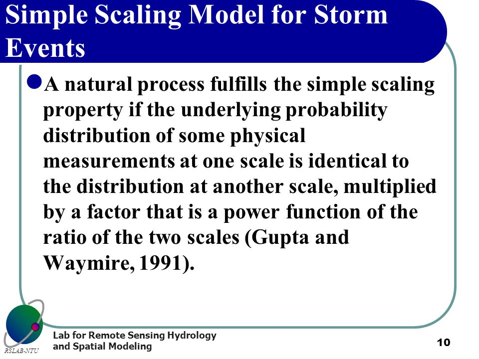 Simple Scaling Model for Storm Events