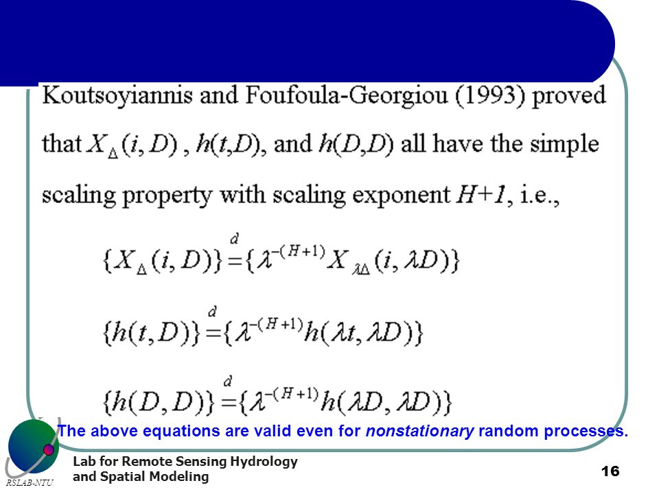 The above equations are valid even for nonstationary random processes.