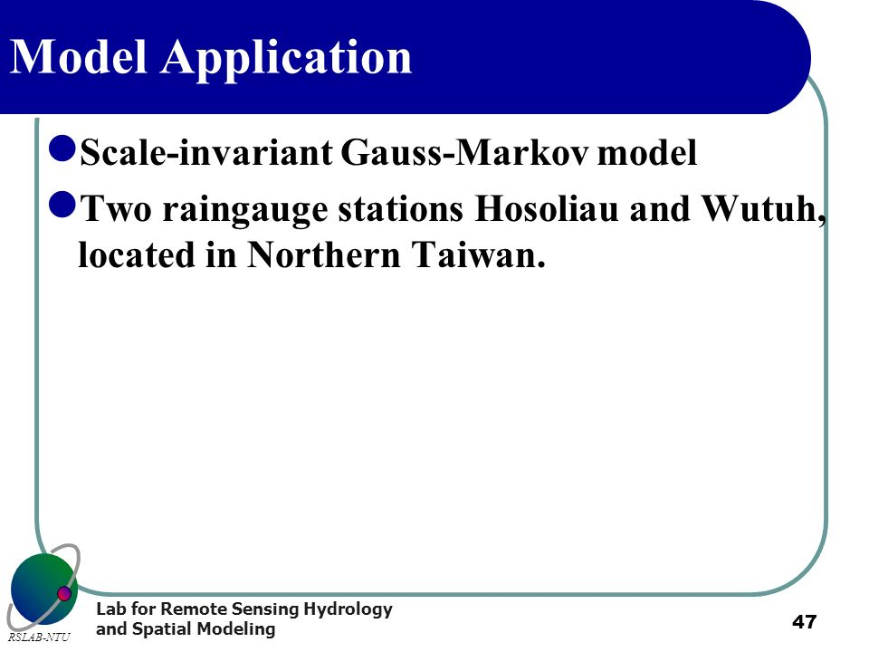 Model Application Scale-invariant Gauss-Markov model