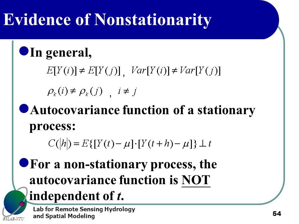 Evidence of Nonstationarity