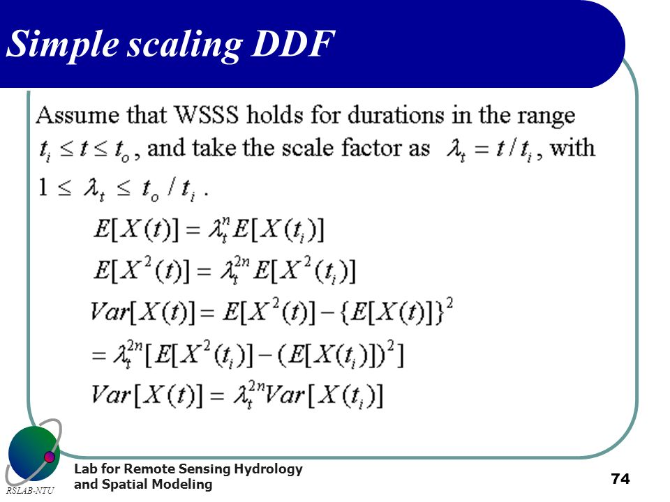 Simple scaling DDF