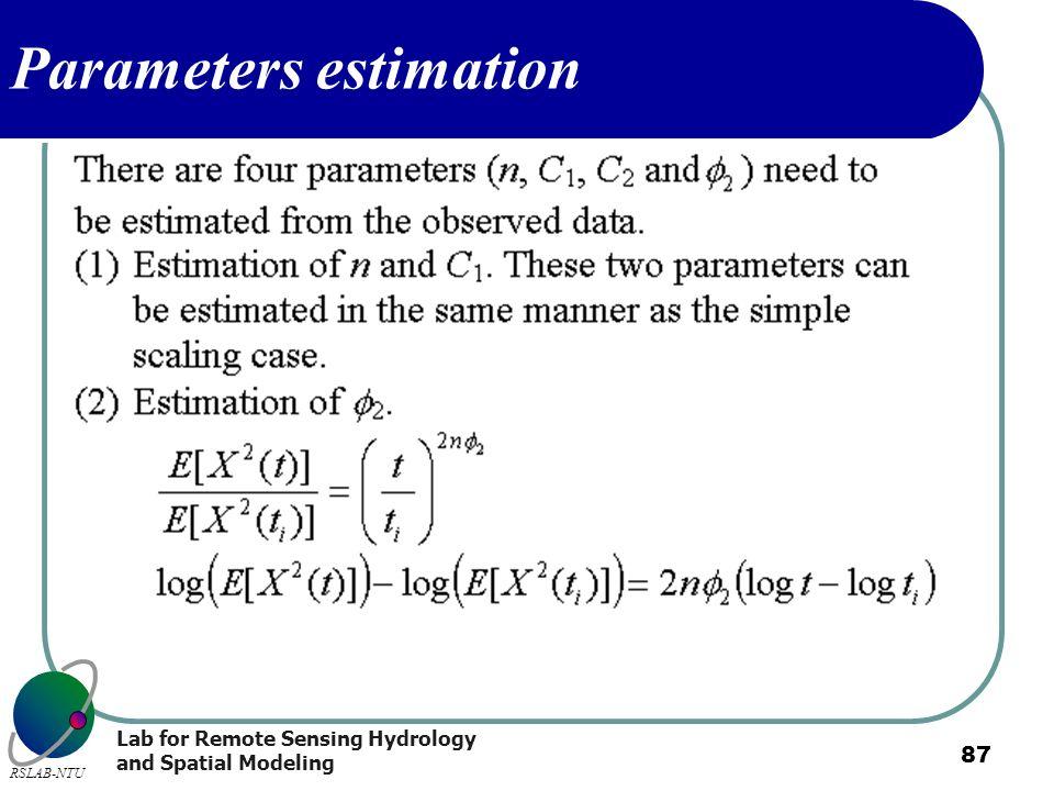 Parameters estimation