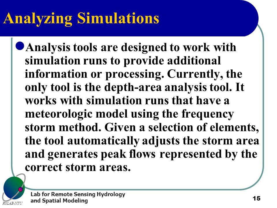 Analyzing Simulations
