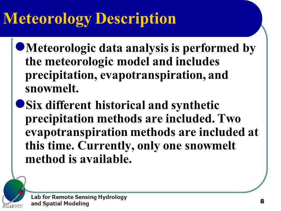 Meteorology Description