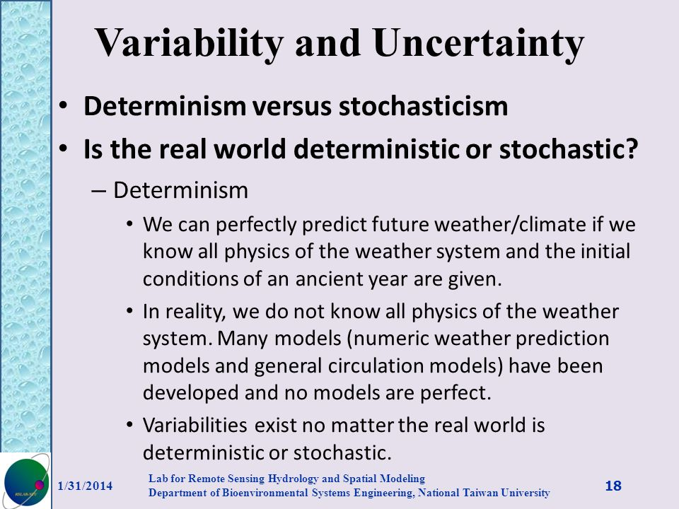 Variability and Uncertainty