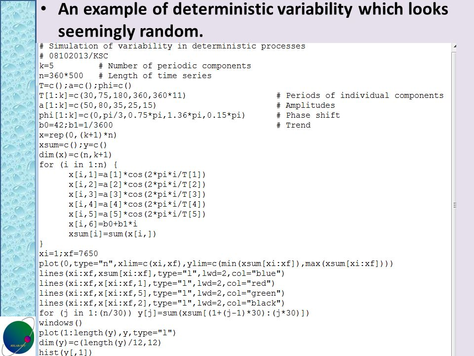 An example of deterministic variability which looks seemingly random.
