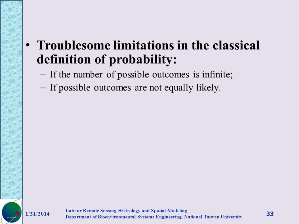 Troublesome limitations in the classical definition of probability: