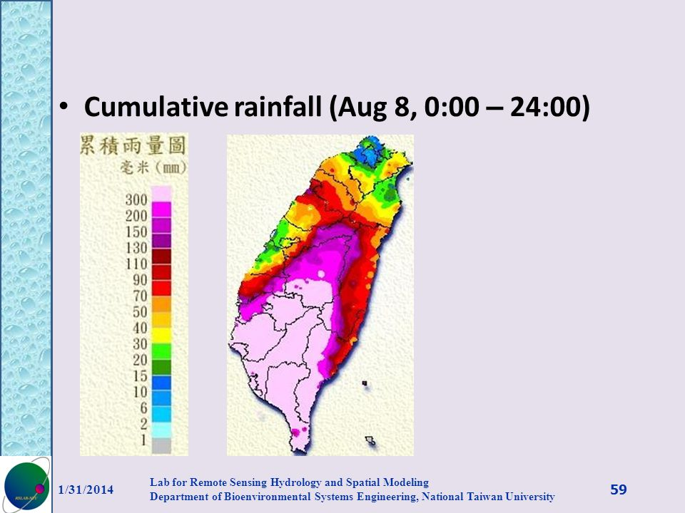 Cumulative rainfall (Aug 8, 0:00 – 24:00)