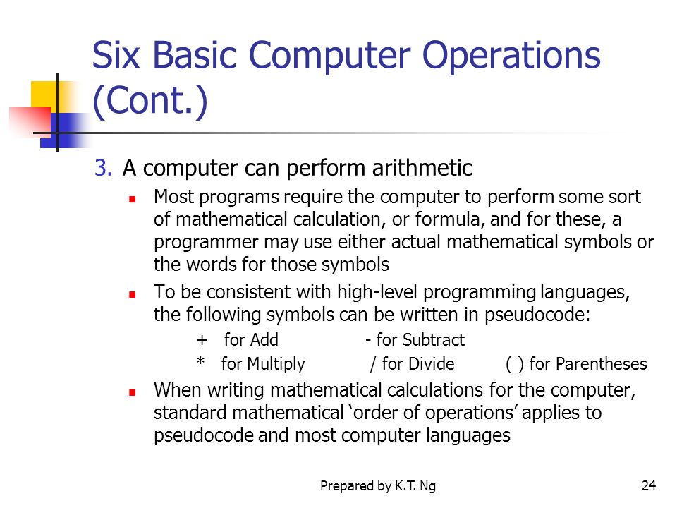 basic computer operations Free tutorial: get help understanding operating systems in this free lesson so you can answer the question, what is an operating system.