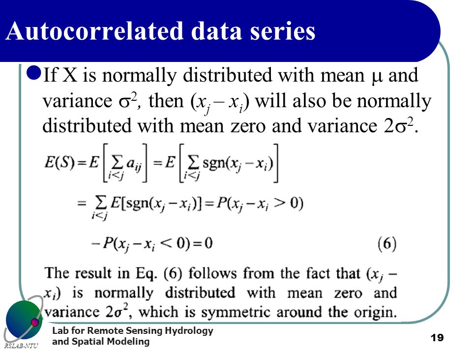 Autocorrelated data series