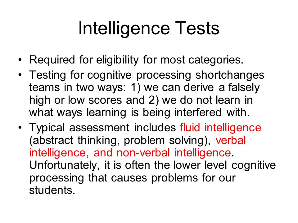 Standardized tests fail in measuring students' intelligence