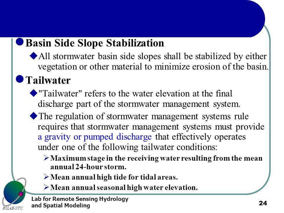 Basin Side Slope Stabilization