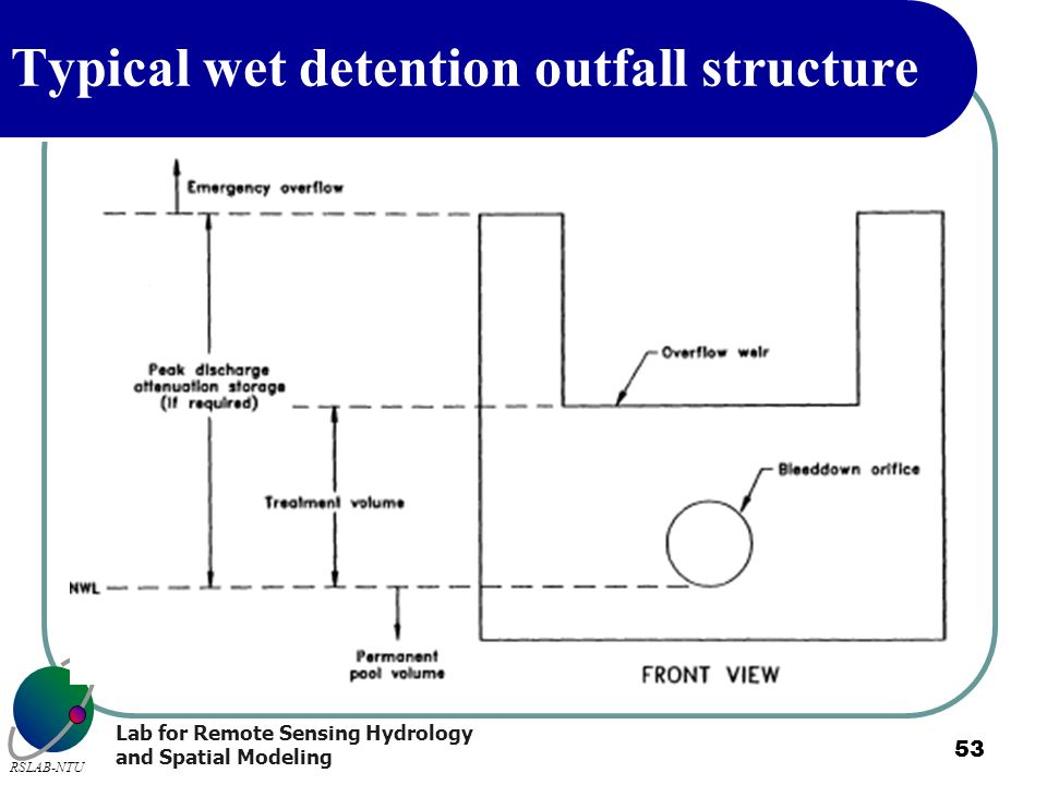 Typical wet detention outfall structure