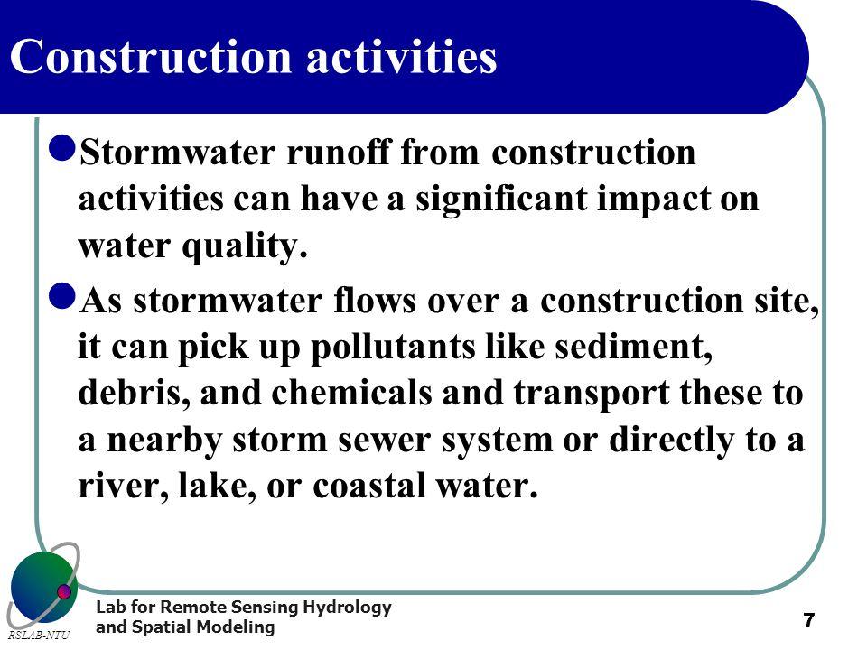 Construction activities