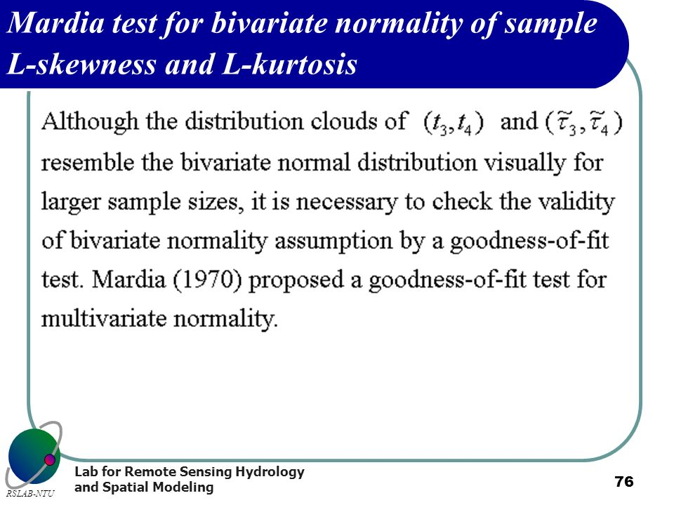Mardia test for bivariate normality of sample L-skewness and L-kurtosis