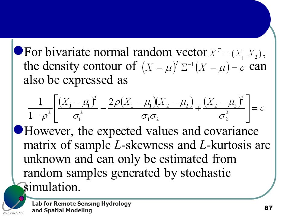 For bivariate normal random vector , the density contour of can also be expressed as