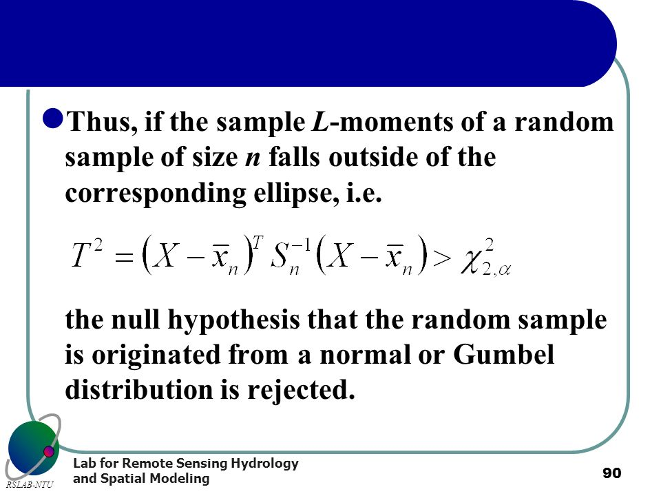 Thus, if the sample L-moments of a random sample of size n falls outside of the corresponding ellipse, i.e.