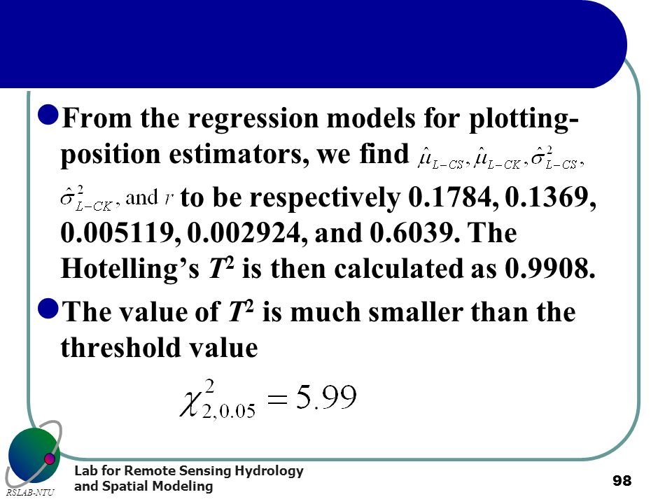 From the regression models for plotting-position estimators, we find