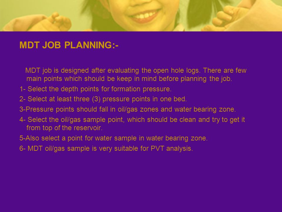 MDT JOB PLANNING:-