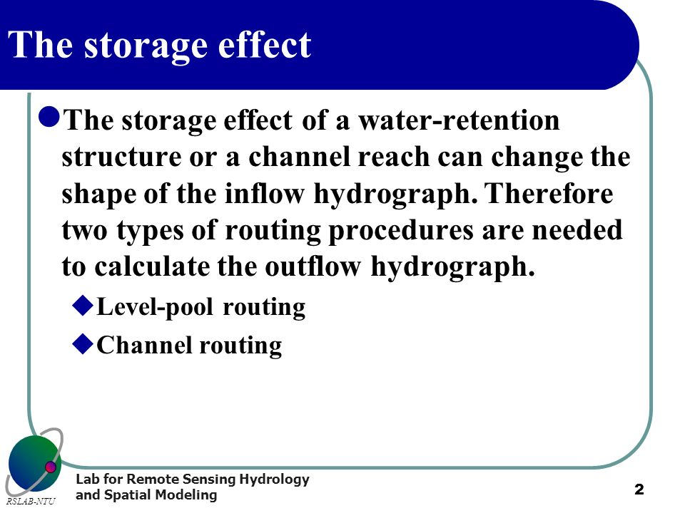 The storage effect
