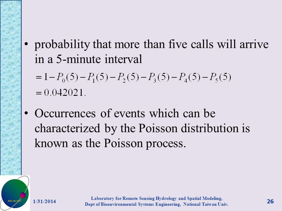 probability that more than five calls will arrive in a 5-minute interval