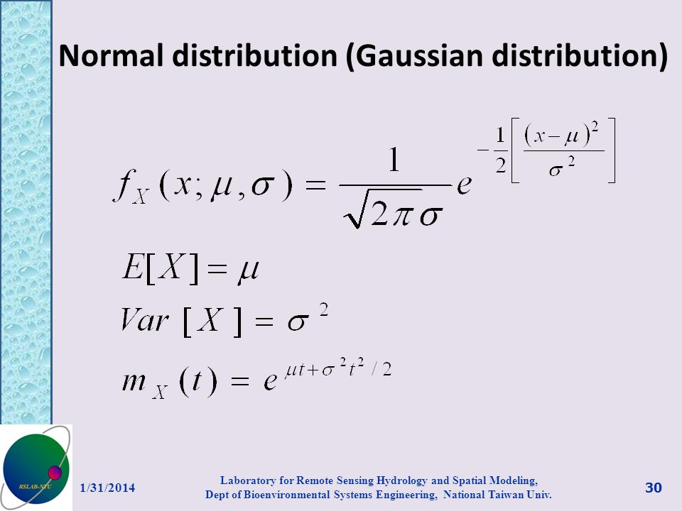 Normal distribution (Gaussian distribution)