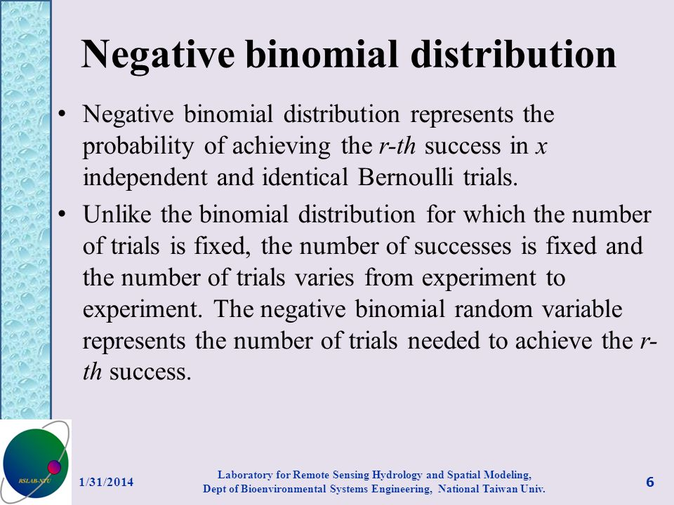 Negative binomial distribution