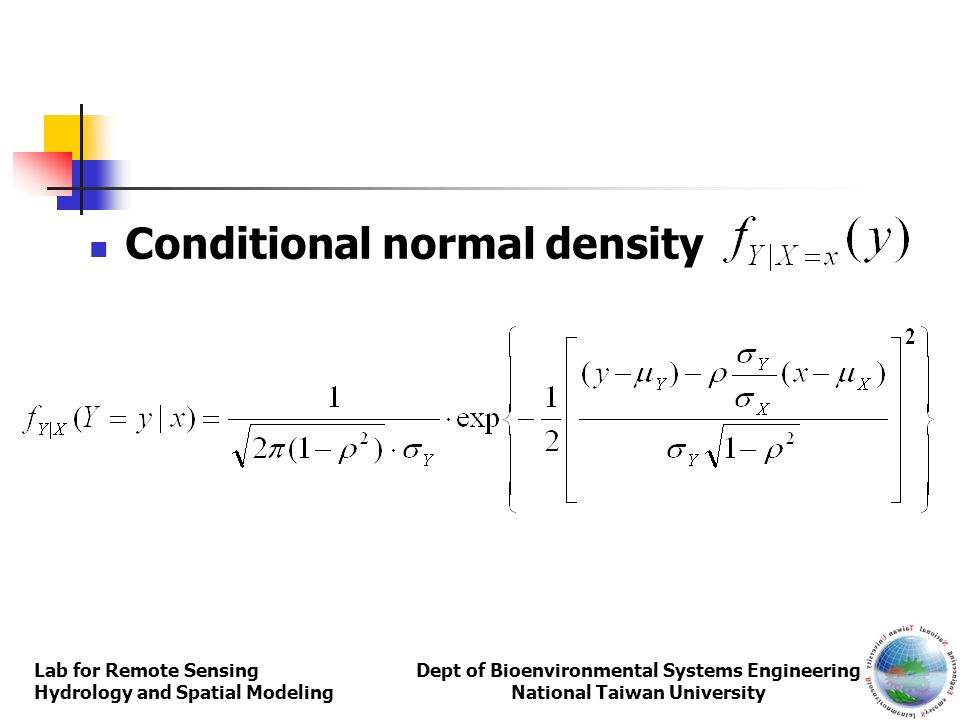 Conditional normal density