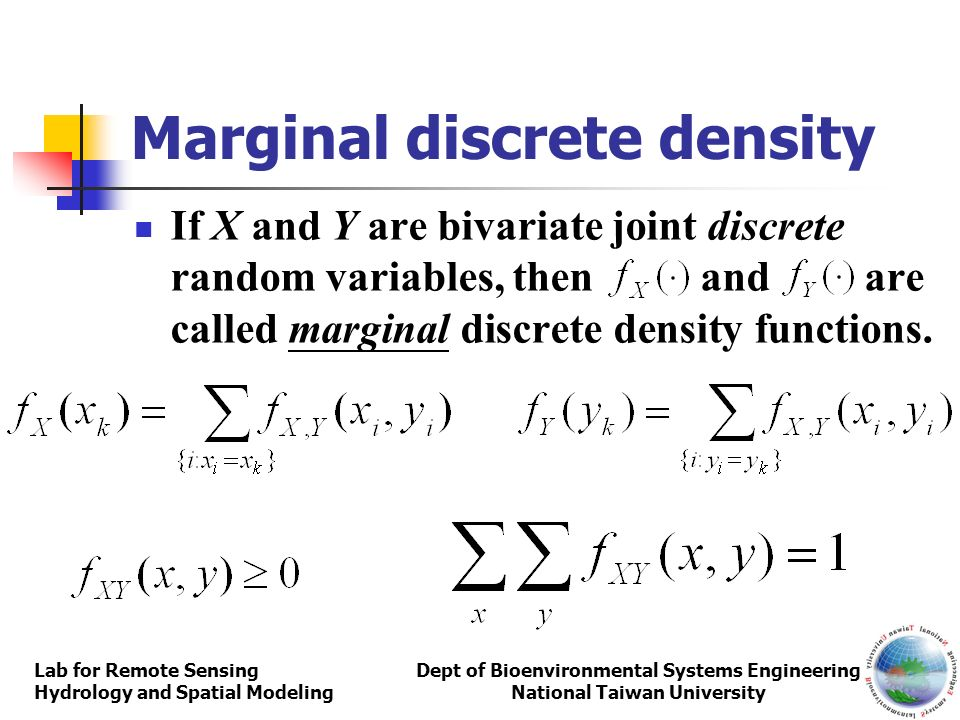 Marginal discrete density