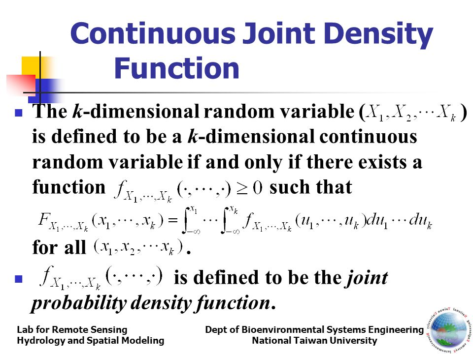 Continuous Joint Density Function