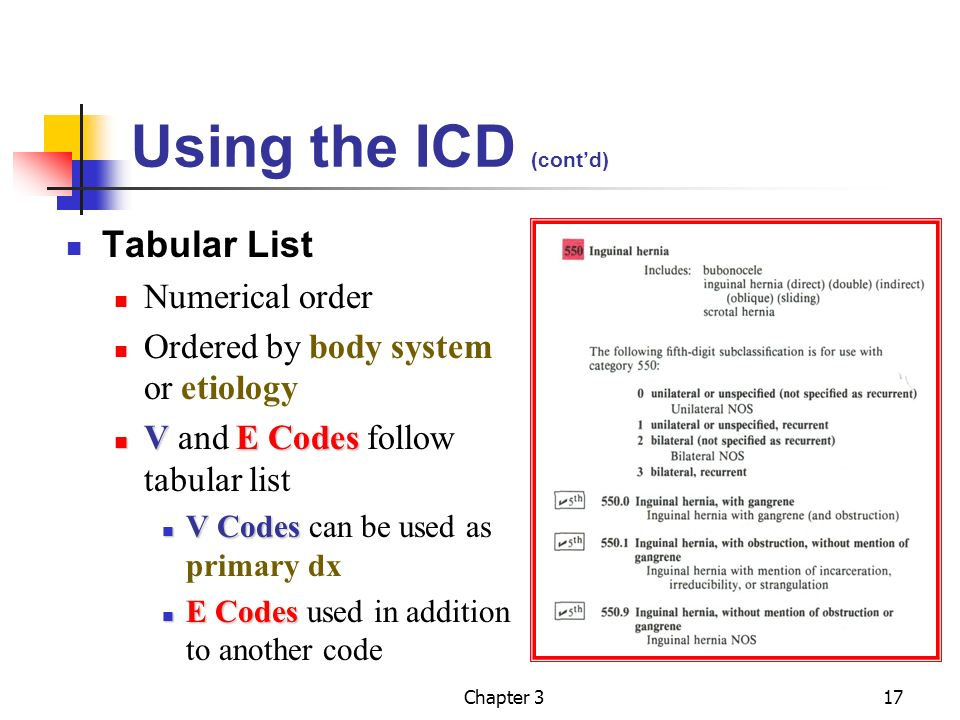 Chapter 3 diagnostic coding ppt video online download for Tabular table