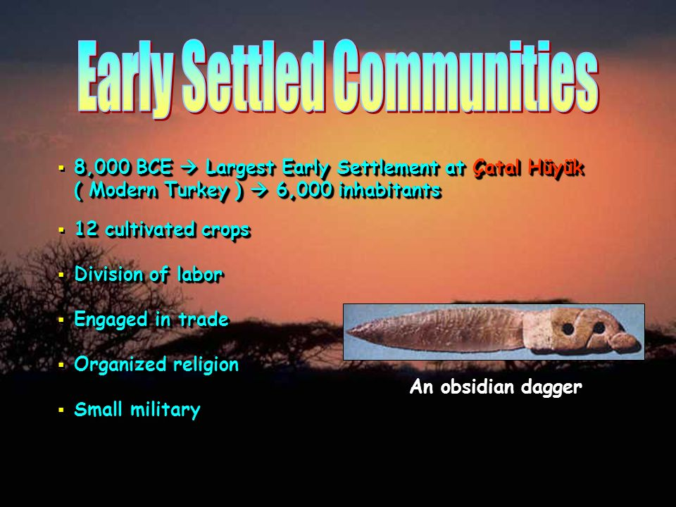 Early Settled Communities
