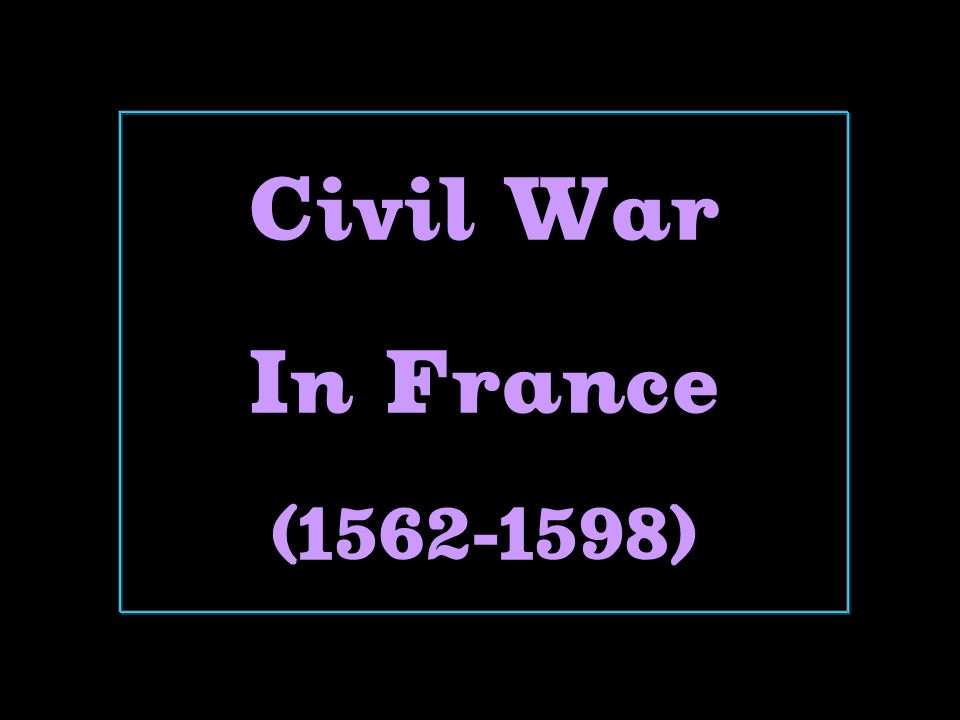 Civil War In France ( )