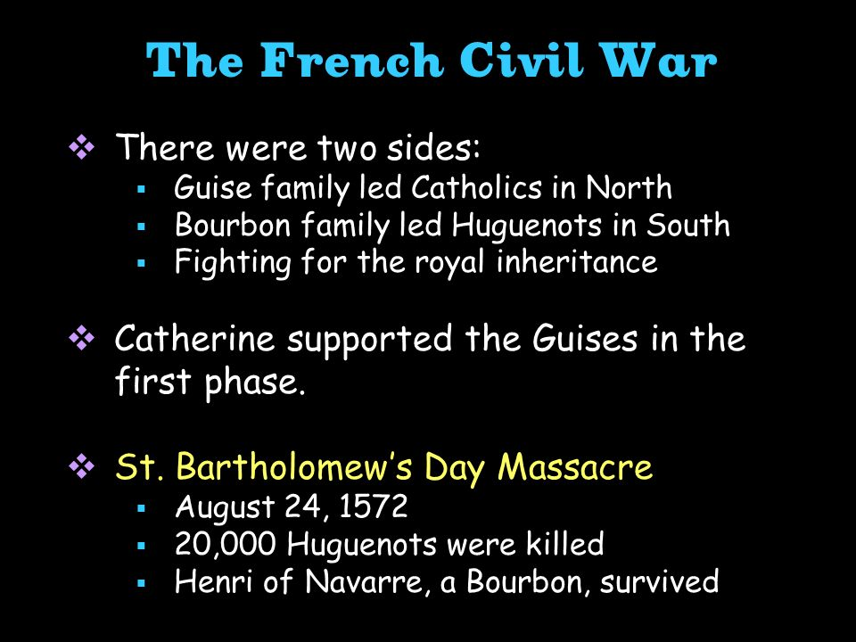 The French Civil War There were two sides: