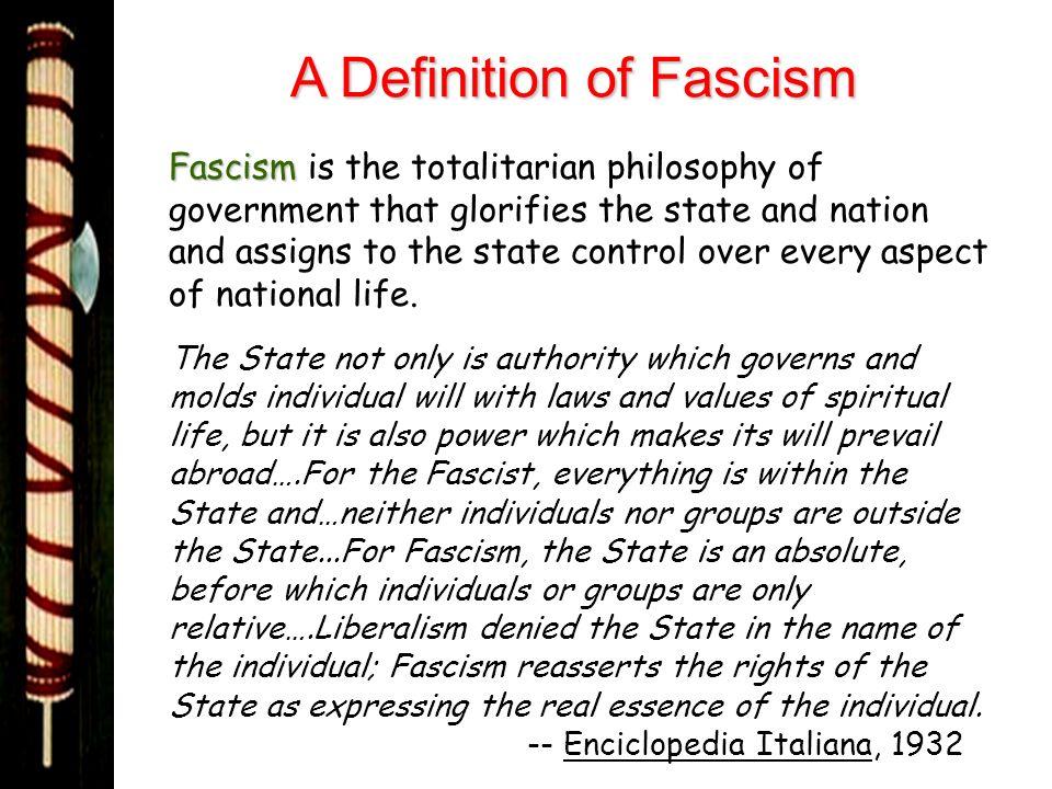 A Definition of Fascism