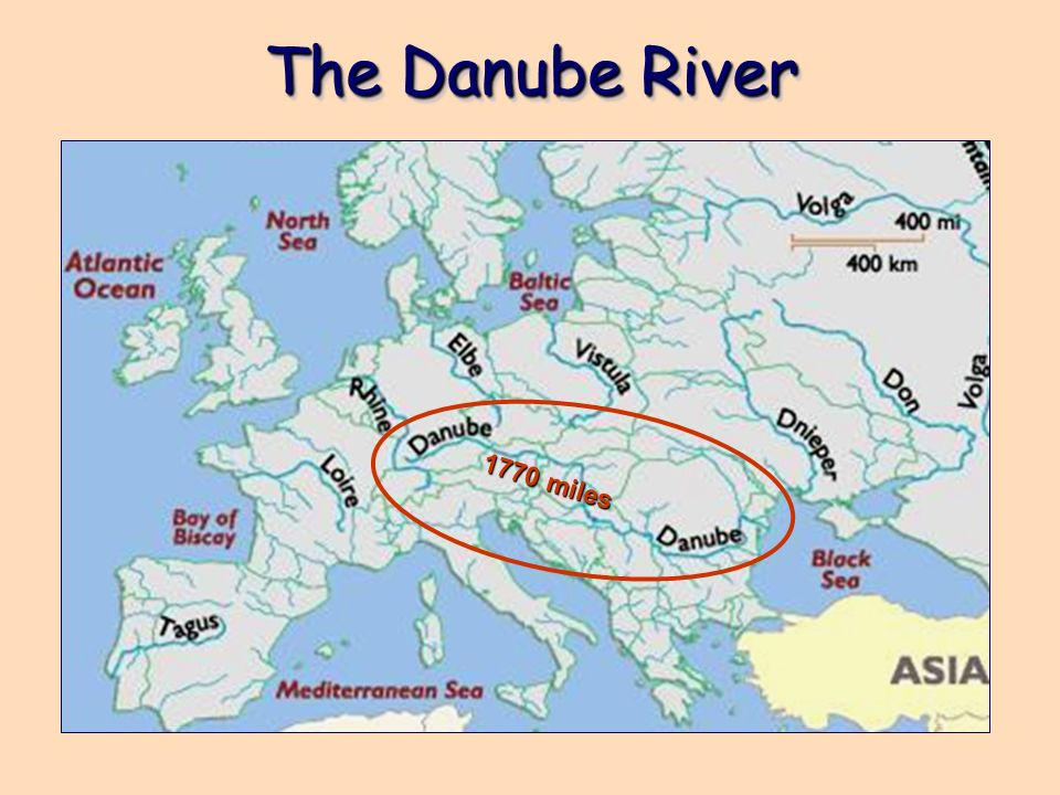 The Danube River 1770 miles