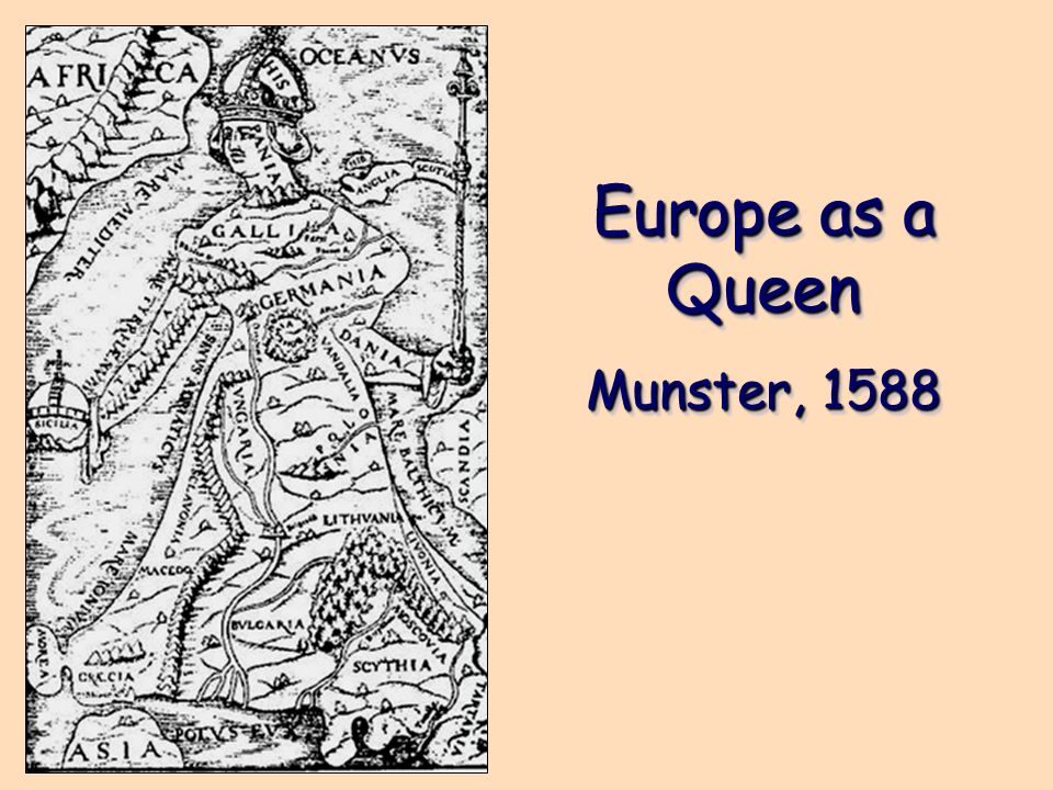 Europe as a Queen Munster, 1588