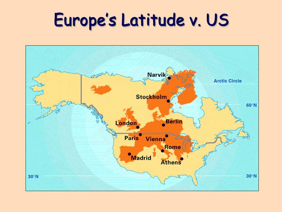 Europe's Latitude v. US