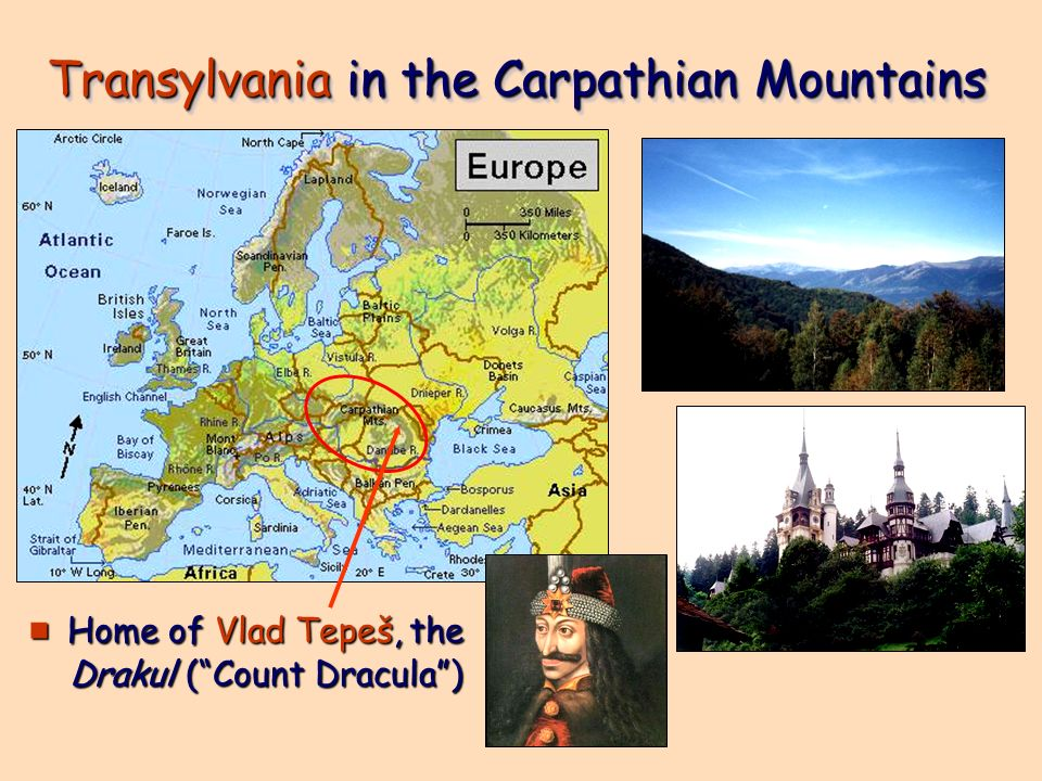 Transylvania in the Carpathian Mountains