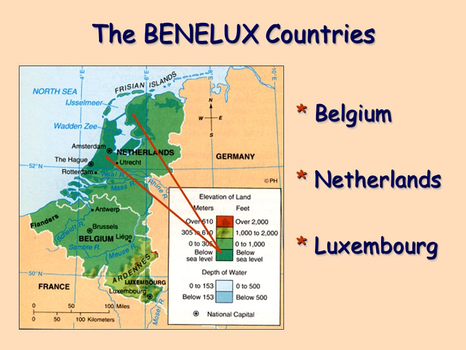 The BENELUX Countries Belgium Netherlands Luxembourg