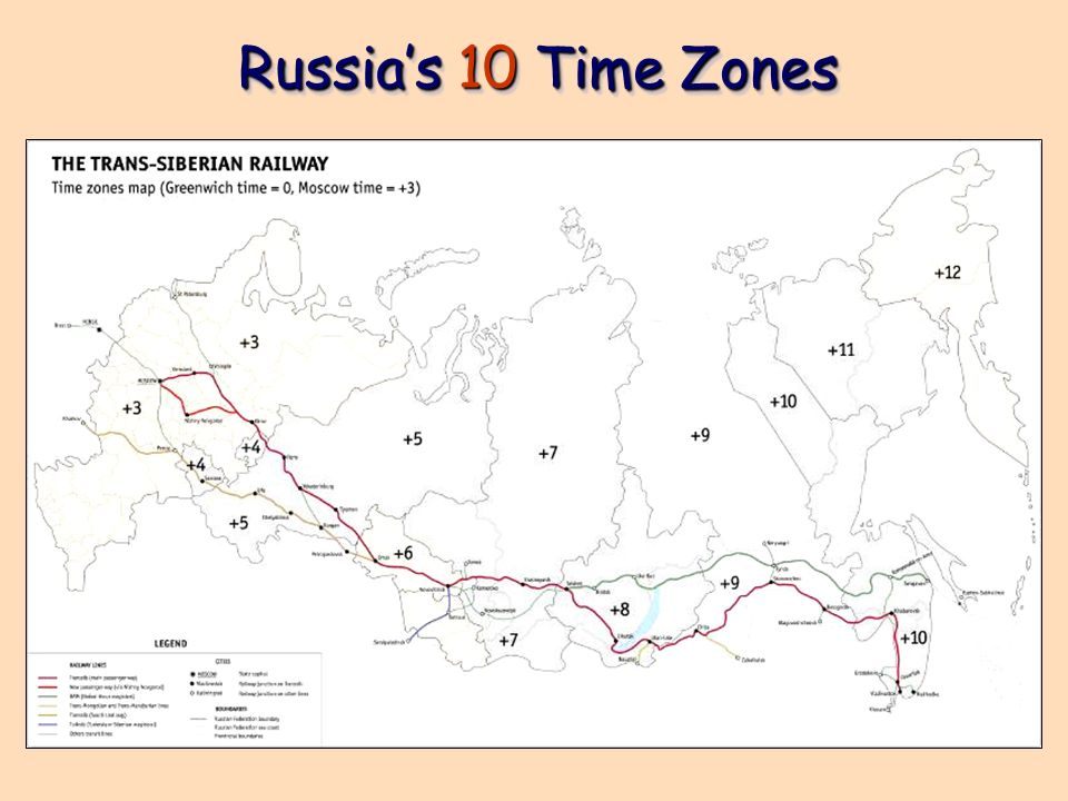 Russia's 10 Time Zones