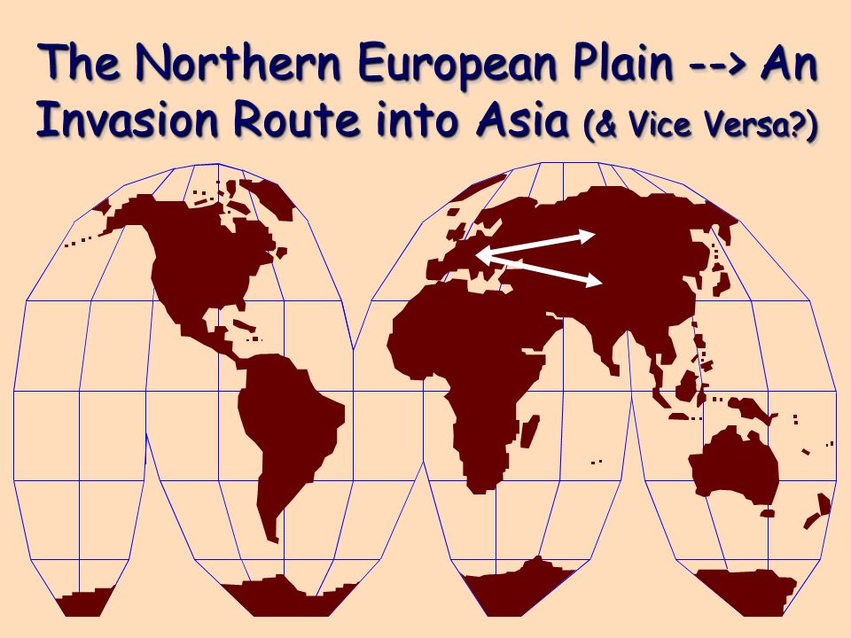 The Northern European Plain --> An Invasion Route into Asia (& Vice Versa )