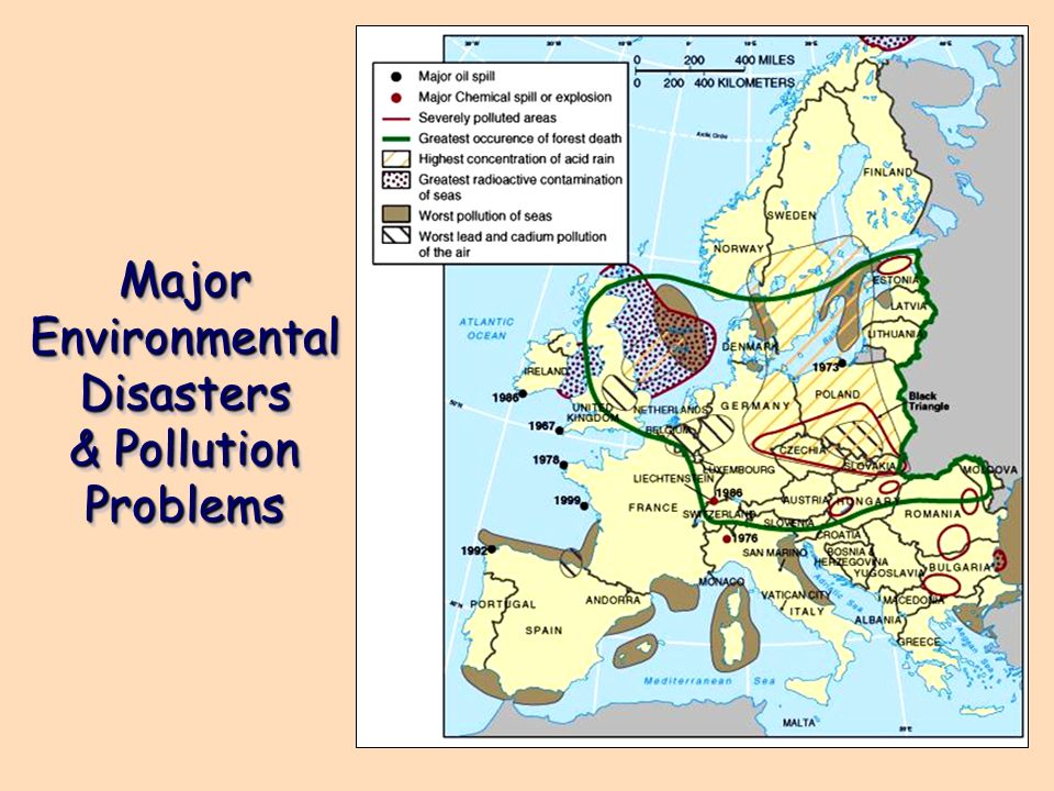 Major Environmental Disasters & Pollution Problems