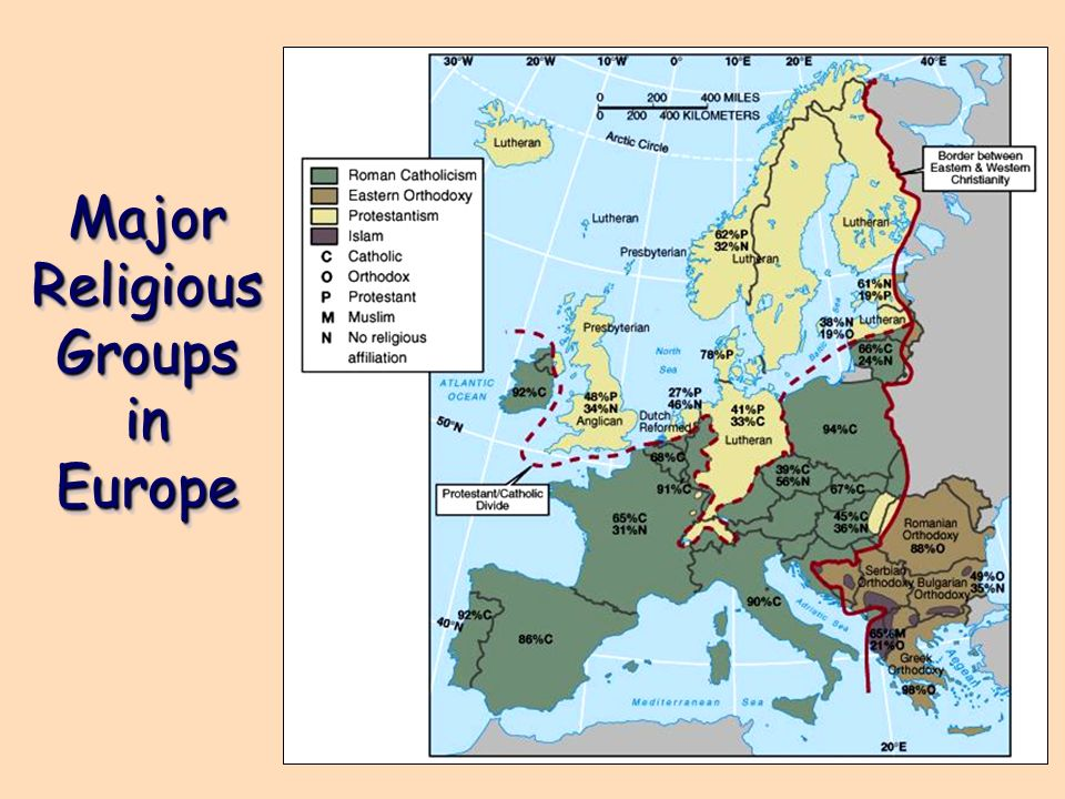 Major Religious Groups in Europe