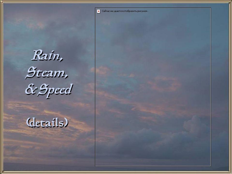 Rain, Steam, & Speed (details)