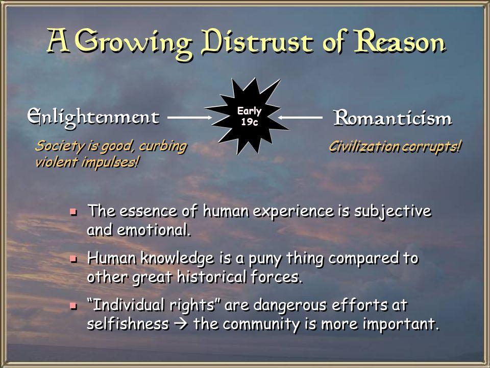 A Growing Distrust of Reason